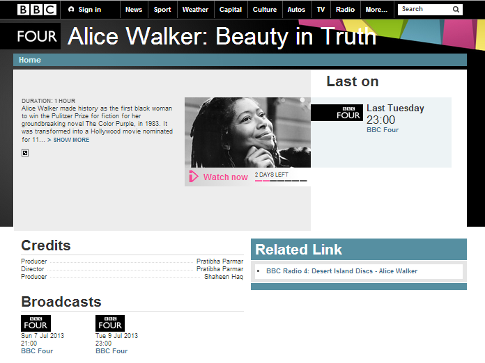 BBC 4 Alice Walker