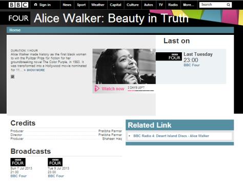 BBC 4 Alice Walker