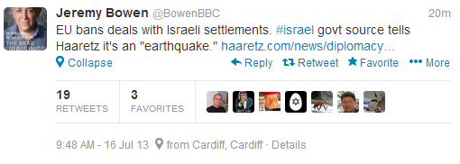 Bowen tweet EU BDS