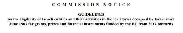 Commission notice