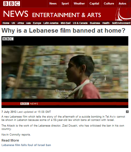 BBC's Connolly misleads on Lebanese boycott law