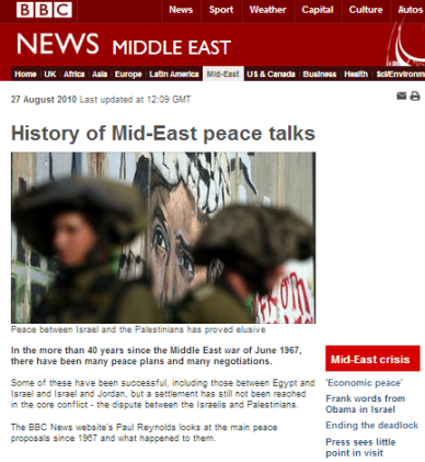 History of ME peace talks