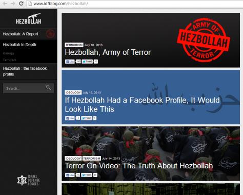 IDF Hizballah site