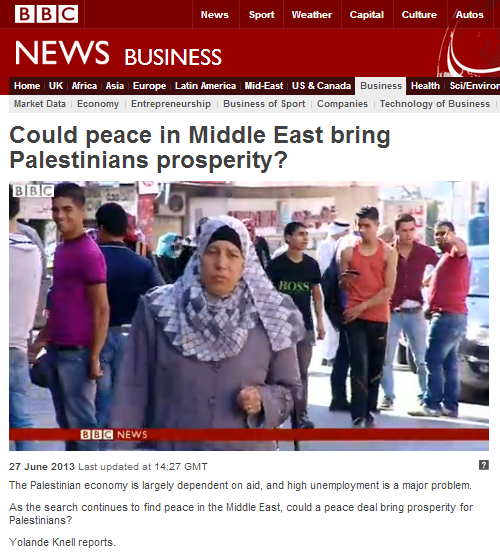 BBC's Knell paints a caricature of the Palestinian economy