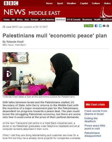 Knell Palestinian economy written