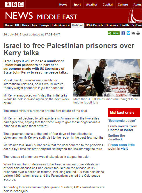 BBC reports on Palestinian 'detainees', but not their crimes