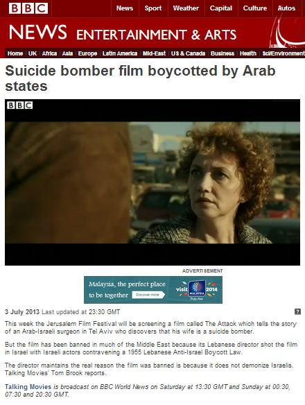 BBC's 'Talking Movies' provides platform for BDS activist