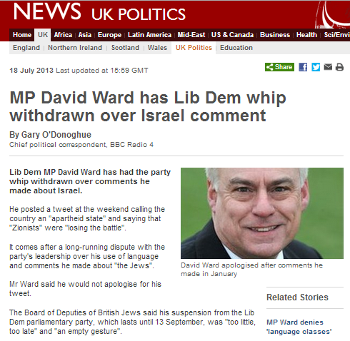 David Ward saga: BBC still prevaricating on antisemitism