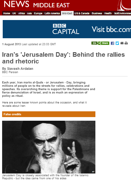 More BBC whitewashing of 'Al Quds Day'