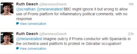 Baroness Deech tweets
