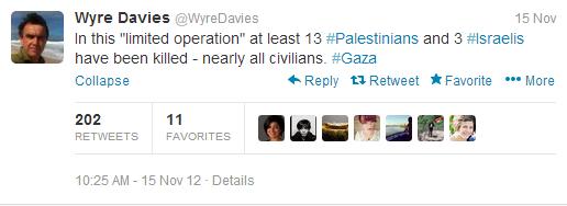 Davies casualties tweet
