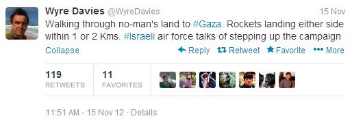 Davies no mans land tweet