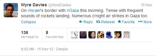 Davies tweet israel border
