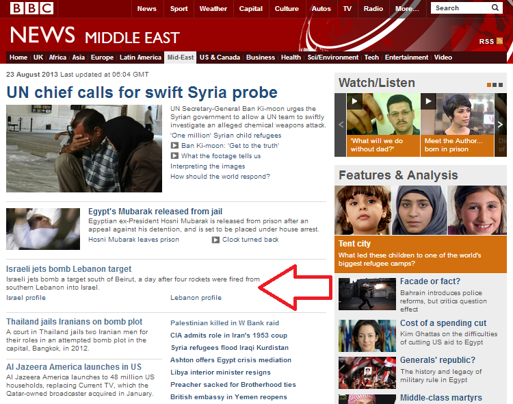 Nothing to see: BBC reports on missile attacks focus on grading damage