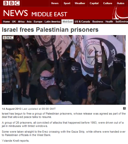 BBC's Knell reports on prisoner release without mentioning their crimes