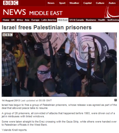 Knell filmed prisoner release