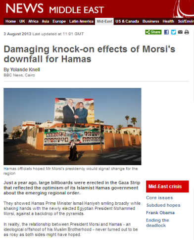 Knell Hamas Morsi article
