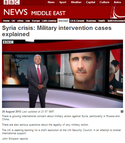BBC's Simpson misleads on potential US targets in Syria