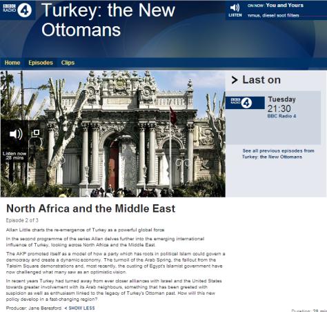 Turkey the New Ottomans