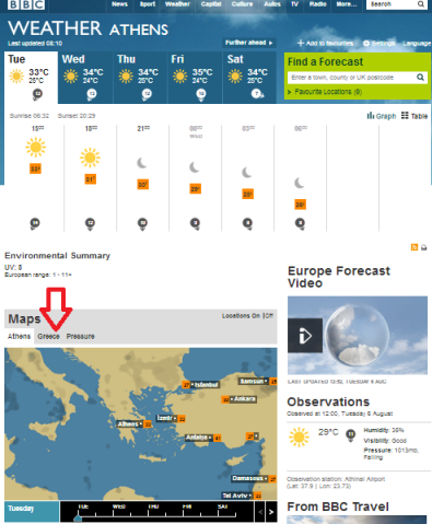 weather Athens