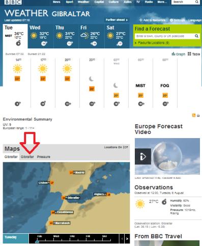 weather Gibraltar