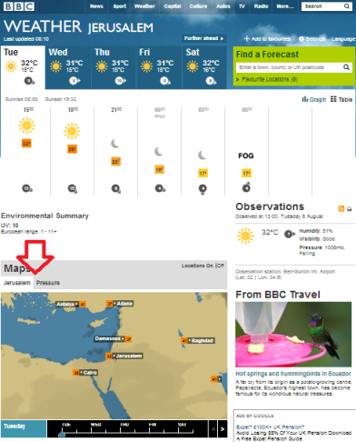 weather Jerusalem