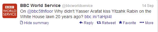 bbc ws historic handshakes tweet