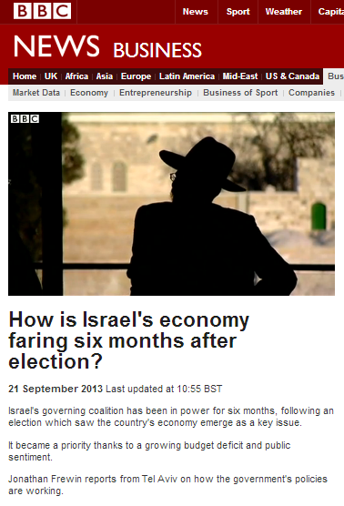 Recycled footage and messaging in BBC business reports from Israel