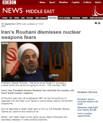 Rouhani NBC int