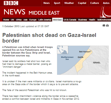 BBC returns to 'last-first' reporting on Gaza Strip incident
