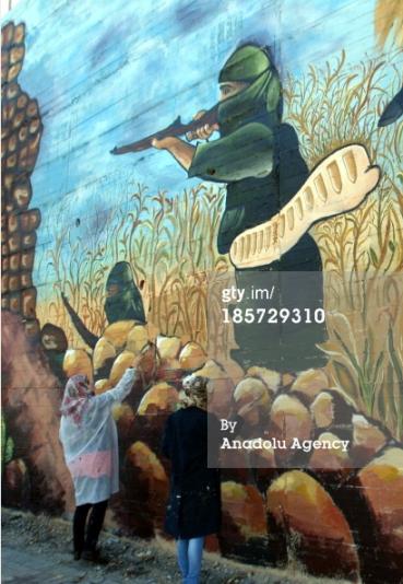 Getty mural