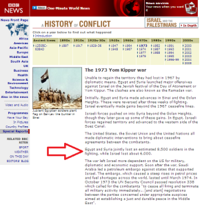 Inaccurate BBC Yom Kippur war claim – 14 years and counting