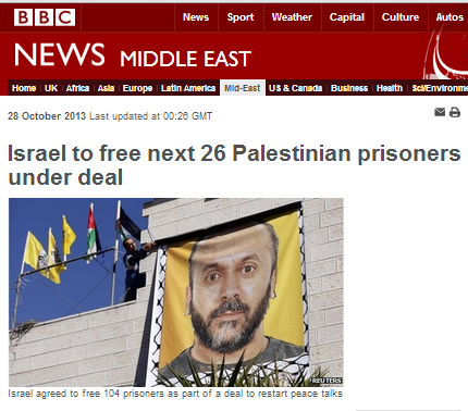 BBC coverage of prisoner release in pictures