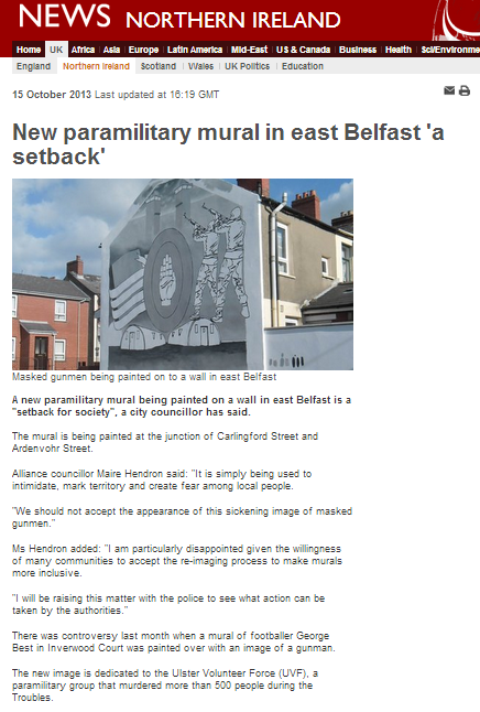 BBC double standards on paramilitary murals