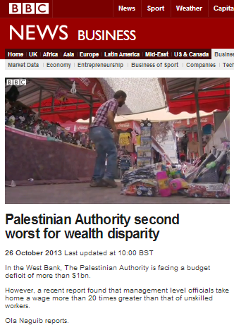 BBC report on PA financial crisis focuses on 'wealth disparity'