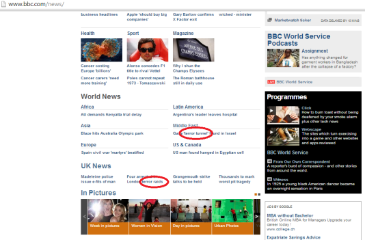terror BBC hp