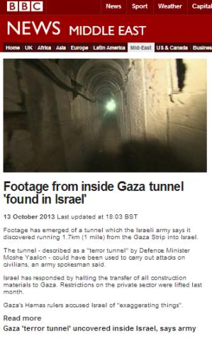 tunnel filmed