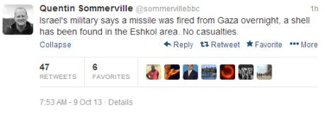 Tweet Sommerville missile