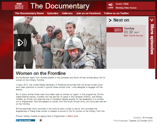 Women on the Frontline BBC WS