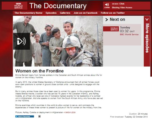 Women on the Frontline BBC WS