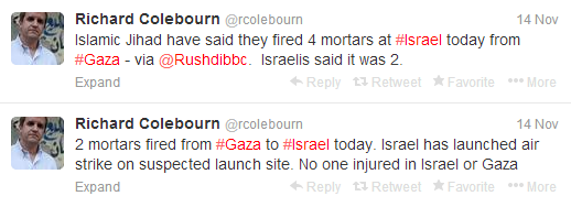 Colebourn tweets mortars thurs