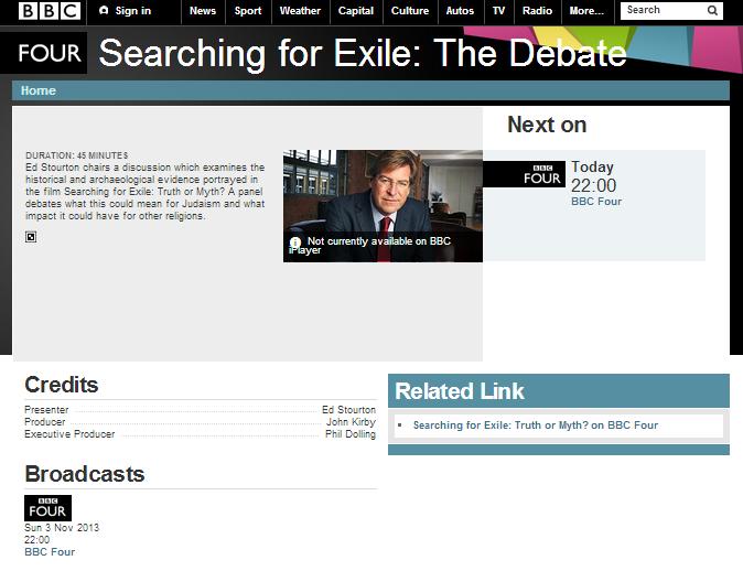 Ilan Ziv film debate BBC 4