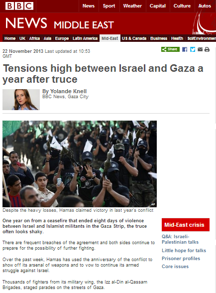 BBC's Knell continues the downplaying of terror from the Gaza Strip