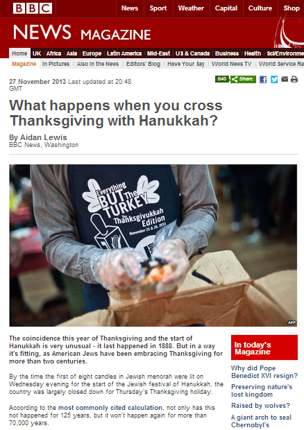 BBC does a makeover on Hannukah