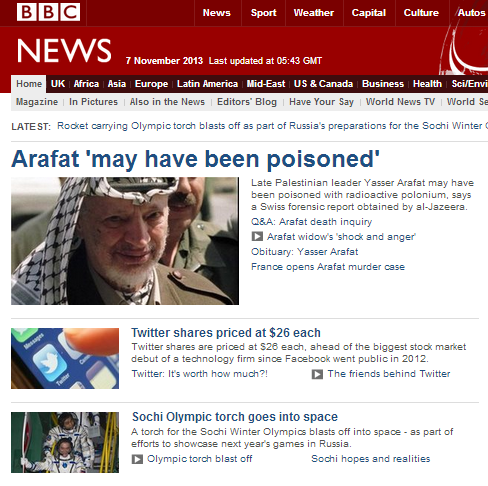 BBC goes into Arafat overdose mode – again