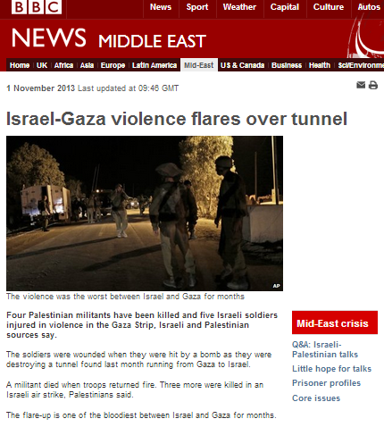 Missile attack on Israeli civilians not a 'flare-up' for the BBC