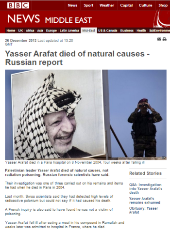 Arafat Russian report