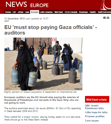 BBC report on EU audit of PA – starring Israel