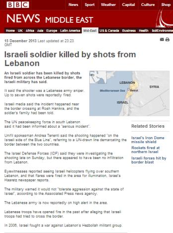 BBC art shooting Leb border