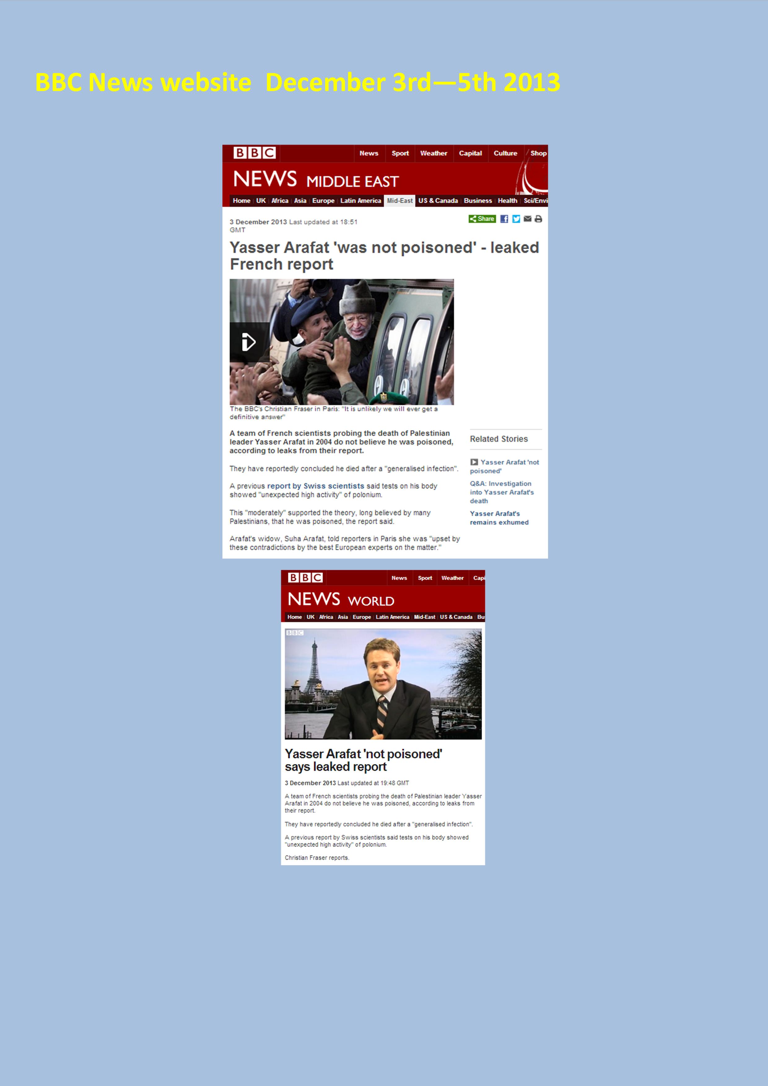 BBC News web Dec 3 to 5